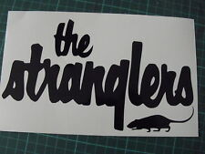 STRANGLERS  LOGO WITH RAT CAR STICKER (150mm x 87mm)