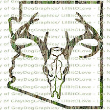 Camouflage Camo Arizona Buck Skull Deer Hunting Vinyl Decal Hunt Sticker Stag