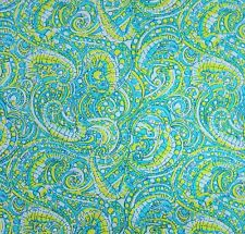 "Lilly Pulitzer Seahorse Cotton Dobby Fabric 1 yd 36"" x 57"""