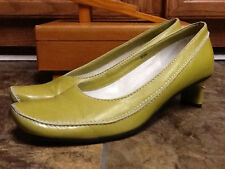 LISA NADING WOMEN'S YELLOW LEATHER PUMPS SHOES SIZE 39.5 US 9