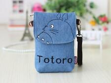Cartoon Totoro cross-body Mobile phone shoulder bag pouch case for iPhone 6 blue