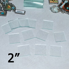 Solder Art Pendant memory Glass 2 x 2 inch Squares (10 pack) 2mm thick glass