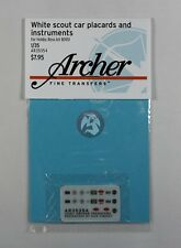 Archer 1/35 White Scout Car Instruments & Placards (Hobby Boss No.82451) AR35354