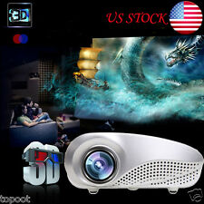 US 5000 Lumens HD 1080P Home Theater Projector 3D LED Portable SD HDMI VGA USB