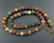 AAA 6mm natural picasso jasper beads round matte loose stone beads strand