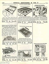 1981 ADVERT Tomy Games Baseball Tudor Electric NFL Quarterback Football Car Race
