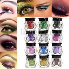 12 Couleurs Poudre Fard Ombre à Paupières Paillette Glitter Maquillage Nail Art