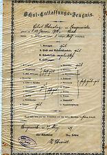 Zeugnis von 1929 Schul Entlassungs Zeugnis **UNIKAT**WELTWEIT NUR 1X