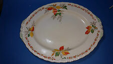 Vintage Serving Oval Plate, Collectable Grindley, Autumn Leaves c1930-50s