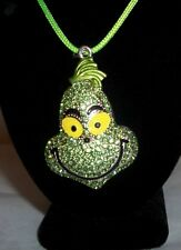 New Grinch Glitzy Necklace Great for Christmas Free Shipping