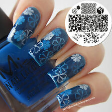 Mixed Fleur Ongle Nail Art Stamping pochoir Template Image plaque BORN PRETTY 20