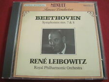 BEETHOVEN SYMPHONY NO 7 & 8 - RENE LEIBOWITZ - MENUET (CD 1998 SWITZERLAND)