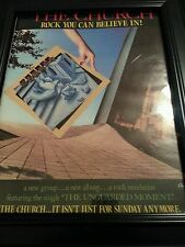 The Church The Unguarded Moment Rare Original Promo Poster Ad Framed!