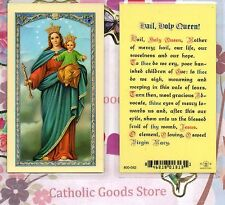 Hail Holy Queen - Laminated Holy Card