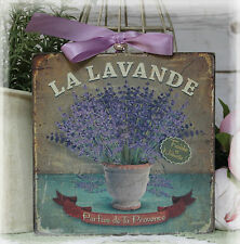 "NEW! ""La Lavande"" Vintage Shabby Country Cottage Chic style Wall Decor. Sign"