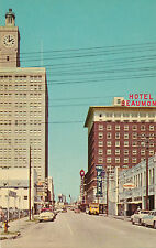 New old stock downtown Beaumont, Texas TX Hotel Beaumont & Humble gas sign