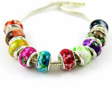 100 PCS mixed Beautiful Acrylic Camouflage Bead Fits European Bracelet AM19