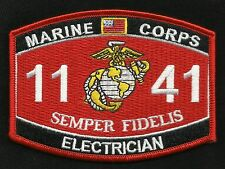 "USMC ""ELECTRICIAN"" 1141 MOS MILITARY PATCH SEMPER FI MARINE CORPS"