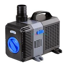 2100 GPH Submersible Pond Pump Adjustable Inline Fountain Waterfall Koi Filter