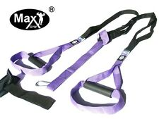 Suspension MaxGym® trainer. Bodyweight Training. Home Fitness Oryginal MxG purpl
