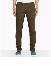 NWT $68 LEVIS 511 LINE 8 SLIM FIT STRETCH JEANS NEW KHAKI 3D RINSE BROWN 34 x 32