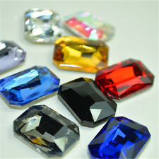 8*10mm Oblong Point back Rhinestones Crystal Glass Beads Stones Chaton 100ps UK