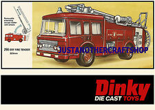 Dinky Toys 266 ERF Fire Engine Large Size Poster Advert Leaflet Display Sign