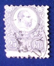 Hungary SC# 12 Used 1871-2 Engraved 25K Lilac Franz Josef Issue