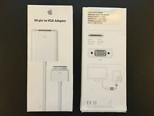 New and sealed Apple 30-pin to VGA Adapter MC552ZM/B Model A1368