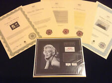 MARILYN MONROE Hair Lock w Towel Piece Autograph Certified Signed COA Authentic