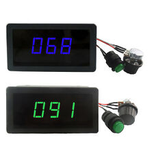 Digital LED Display PWM DC Motor Controller Variable Speed Regulator 6V 12V 24V