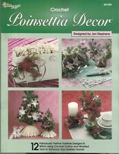 Poinsettia Decor Crochet ChristmasTree Patterns Ornaments Jeri Stephens NEW