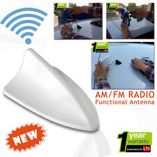 AUDI Q5 Shark Fin Functional White Antenna (Compatible for AM/FM Radio)
