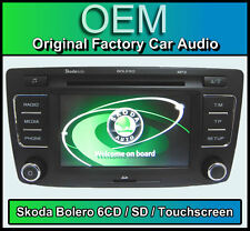 Skoda Octavia CD Player car stereo, Skoda Bolero 6 CD changer, touchscreen SD in