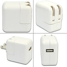 White 2.1A USB Portable Home Travel Wall Charger US AC Power Adapter For iPad