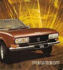 PEUGEOT 504 COUPE & Caddy V6 1974-75 mercato olandese BROCHURE DI VENDITA