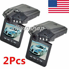"2X 2.5"" HD Car Vehicle Dash Dashboard Camera IR DVR Cam Recorder Night Vision"