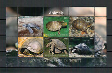 Dschibuti, Schildkröten   Turtel   Tortue Kleinbogen Mini Sheet 2011** MNH