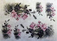 Rice Paper for Decoupage Scrapbook Craft Sheet roses flowers 20