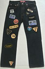 Junya Watanabe COMME DES GARCONS denim jeans NWT $465 sz M Triumph racing Patch