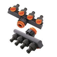 4 Way Garden Hose Pipe Splitter Drip Irrigation Water Connector Agricultural Tap