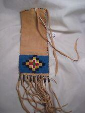 NORTHERN PLAINS BEADED PIPE BAG, NORTH AMERICAN BEADED CHANUPA BAG, #PORT-780