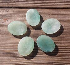 NATURAL GREEN AVENTURINE GEMSTONE WORRY STONE (ONE)