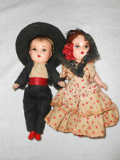 Vintage Spanish composition dolls boy & girl