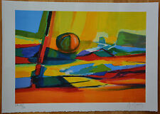 "Marcel Mouly ""Abstractions IV"" Limited Edition Signed & Numbered Lithograph +COA"