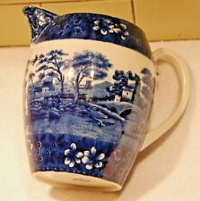 "Large COPELAND SPODE'S TOWER 7 1/2"" FLOW BLUE PITCHER"