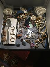 Antique Vintage Junk Drawer Jewelry Lot Estate Sale Find