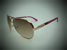NEW GUESS GUF 224 RO-62A pink  aviator wrap shield sunglasses