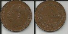 REGNO D'ITALIA UMBERTO I 10 CENTESIMI 1893 BIRMINGHAM qSPL