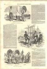 1852 India Burma War Villages Costume Road Pagoda
